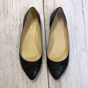 Nine West Tamora flats black leather 9M pointy toe
